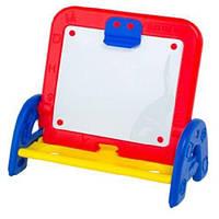 Детский мольберт  Дитячий набір іграшок: дошка, маркер, губка, крейда, букви, цифри, знаки