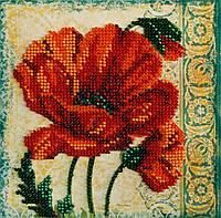 Набор для вышивки бисером Мини Красный бархат (15 х 15 см) Абрис Арт AM-180