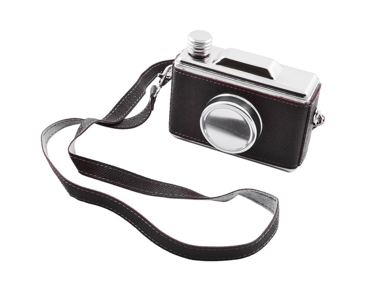 Фляга из пищевой нержавеющей стали в виде фотоаппарата
