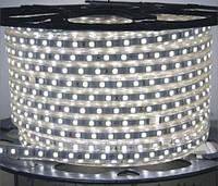 Светодиодная лента 220В Белый SMD 5050 60 диодов на метр IP67(герметичная)