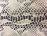 Натуральная кожа нубук двухцветная с Экзотическим тиснением рептилия