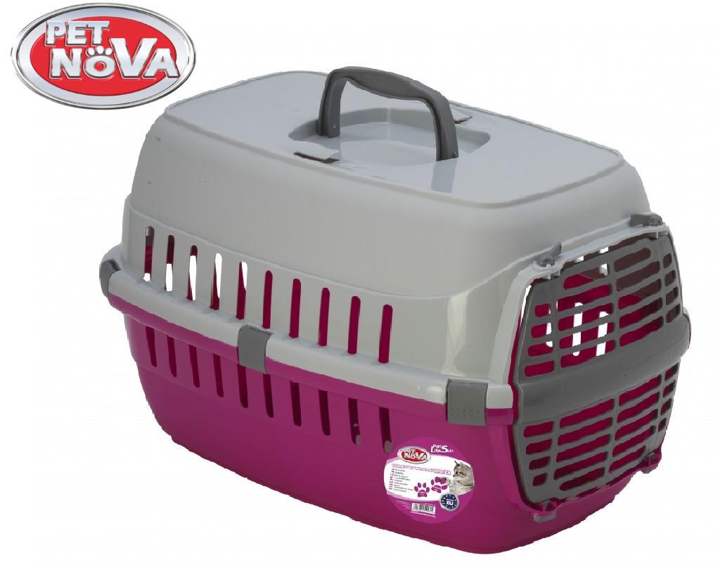 Контейнер-перенесення для кішок Pet Nova Comfortrans 48.5х32.3х30.1 см рожевий