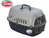 Контейнер-переноска для кошек PetNova Comfortrans 48.5х32.3х30.1 см синия