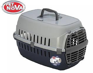 Контейнер-перенесення для кішок Pet Nova Comfortrans 48.5х32.3х30.1 см синій