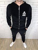 Спортивный костюм Philipp Plein D2706 велюровый черный