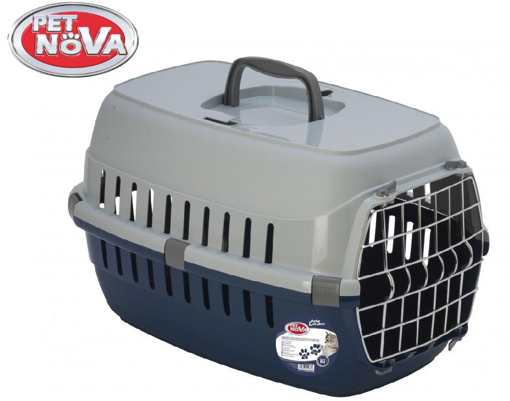 Контейнер-перенесення для кішок Pet Nova Securetrans 48.5х32.3х30.1 см синій