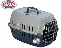 Контейнер-переноска для кошек Pet Nova Securetrans 48.5х32.3х30.1 см синий