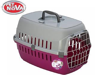 Контейнер-перенесення для кішок Pet Nova Securetrans 48.5х32.3х30.1 см рожевий