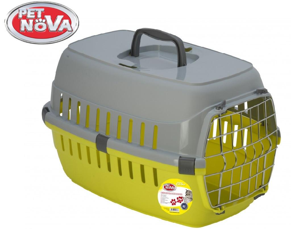 Контейнер-перенесення для кішок Pet Nova Securetrans 48.5х32.3х30.1 см жовтий