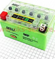 Аккумулятор на мототехнику 7Аh (гелевый, зеленый) 150/85/95мм с ИНДИКАТОРОМ