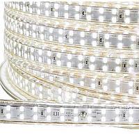 Светодиодная лента 220В Белый SMD 3528 180 диодов на метр IP67 герметичная