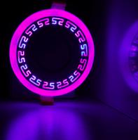 "LED панель Lemanso ""Грек"" LM555 круг  6+3W розовая подсв. 540Lm 4500K 85-265V, фото 1"
