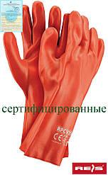 Защитные рукавицы изготовленные из ПВХ и заканчивающиеся манжетой RPCV35 C