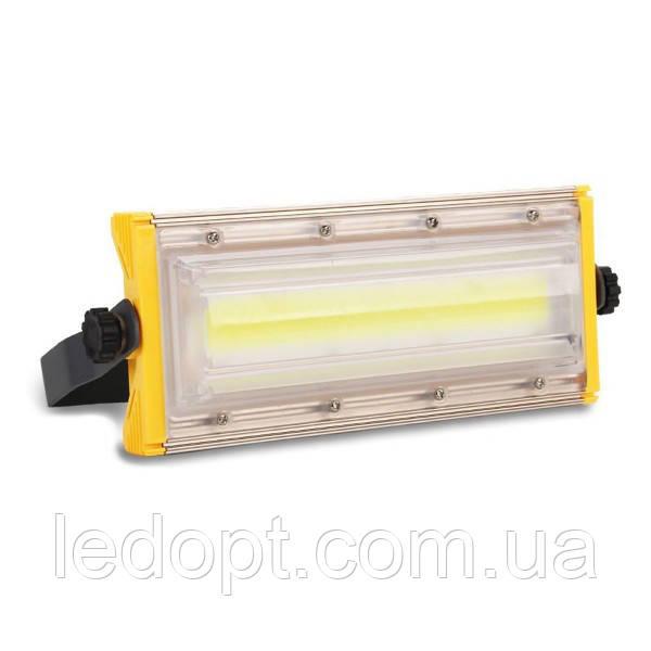 Светодиодный прожектор 50W COB Pro IP65 slim 220V 6500K