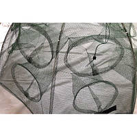 Раколовка Два Этажа (рыбацкий зонтик), 14 входов , прочная и надежная, диаметр 100 см