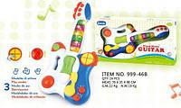 Игрушка детская инструменты музыкальные Гитара 999-46B батарейки музыка свет 46*8*25
