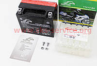 Аккумулятор на мототехнику 10Аh YTX12-BS (кислотный) 150/90/130мм