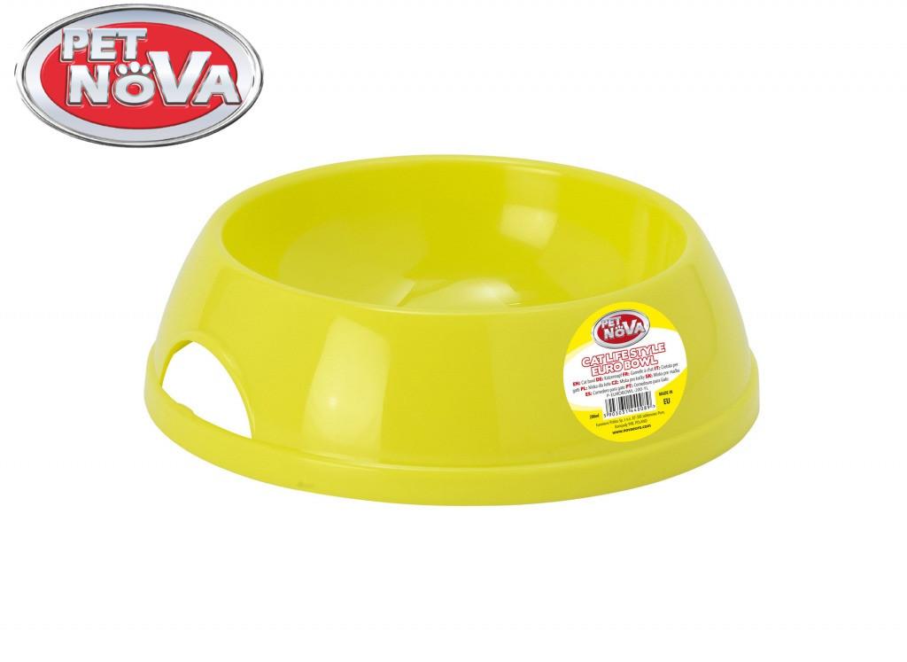 Миска для кота Pet Nova 200 ml жовтий