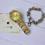 Годинники жіночі кварцові PANDORA. Стильні жіночі годинники в золоті та сріблі. Стильні годинники., фото 5