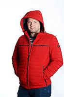 Куртка мужская деми Black VINYL TC18-1260 красный