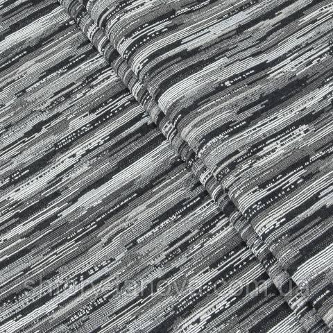 Гобелен ткань, кометный дождь, серо-чёрный