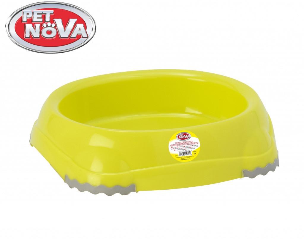 Миска для котів овальна Pet Nova 210 ml жовтий P-EUROBOWL-INNO-210-Yl