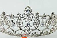 227 Дорогие высокие свадебные короны из циркония. Свадебные аксессуары оптом.