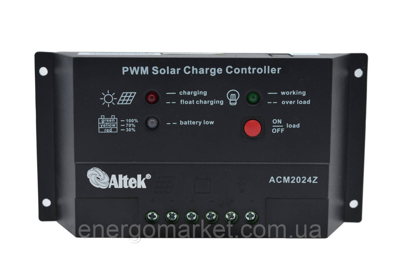 Контроллер заряда Altek ACM2024Z (10А)