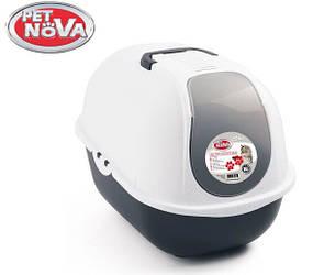 Закрытый туалет Pet Nova CatLifePro 52 см серый