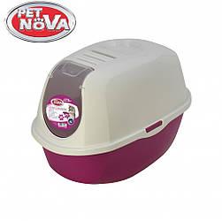 Закрытый туалет Pet Nova CatLifeEco 54 см розовый