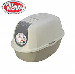 Закрытый туалет Pet Nova CatLifeEco 54 см серый