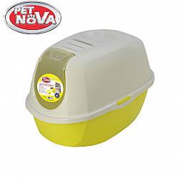 Закрытый туалет Pet Nova CatLifeEco 54 см желтый