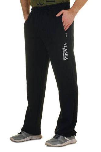 ТЕПЛЫЕ зимние спортивные брюки мужские с начесом Аляска(Alaska) черныепрямые Украина