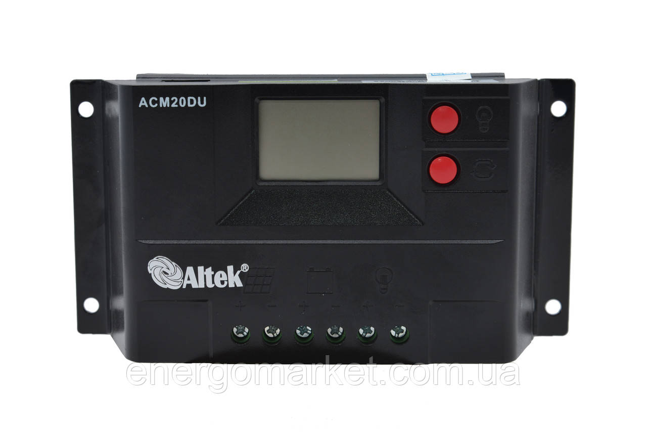 Контроллер заряда Altek ACM20D+USB (20А)