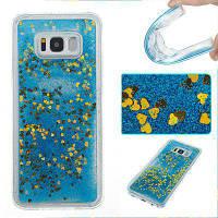 Blue Sand Gold Heart All Мягкий чехол для мобильного телефона Tpu для Samsung Galaxy S8 Plus
