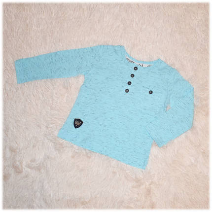 Реглан детский на мальчика голубой Турция размер 74, фото 2