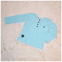Реглан детский на мальчика голубой Турция размер 74 80 86 92 98
