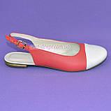 Женские кожаные босоножки с закрытым носком и открытой пяткой от производителя, фото 3