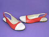 Женские кожаные босоножки с закрытым носком и открытой пяткой от производителя, фото 4