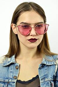 Cолнцезащитные женские очки розовые 679