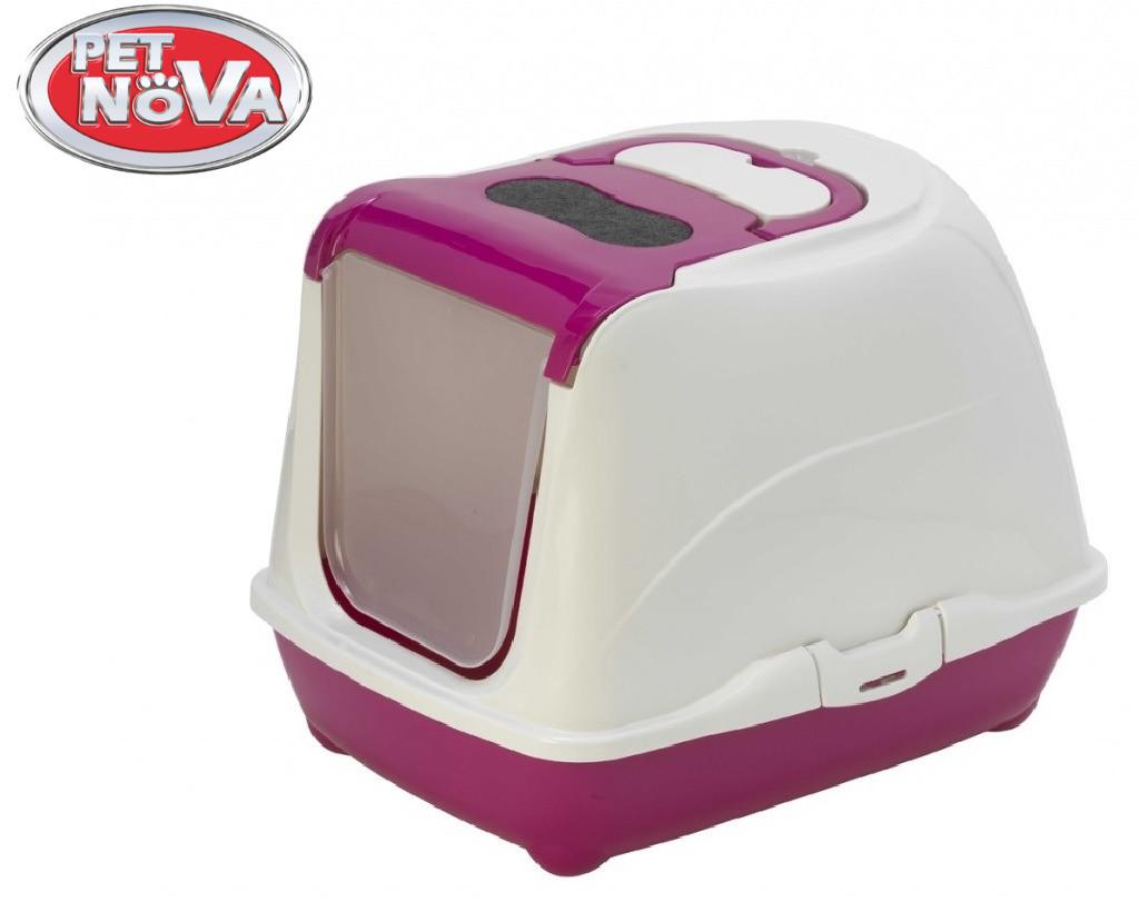 Закрытый туалет Pet Nova CatLifePlus 57 см розовый