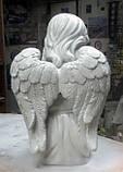 Ангелы из мрамора. Скульптура Ангела девочки № 88 из литьевого мрамора 50 см, фото 5