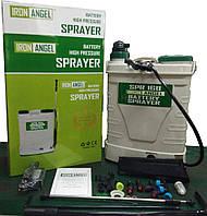 Аккумуляторный опрыскиватель Iron Angel SPR 16B функция 2 в 1: электрическая помпа + ручной насос модель 18г