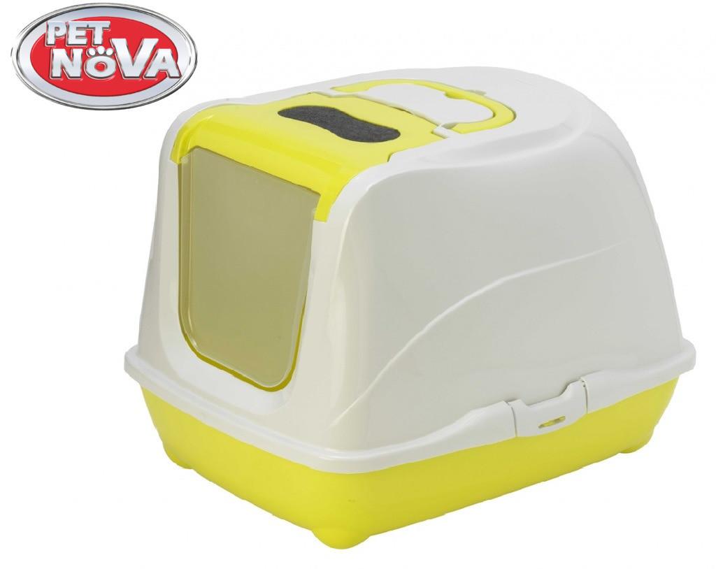Закрытый туалет Pet Nova CatLifePlus 57 см желтый