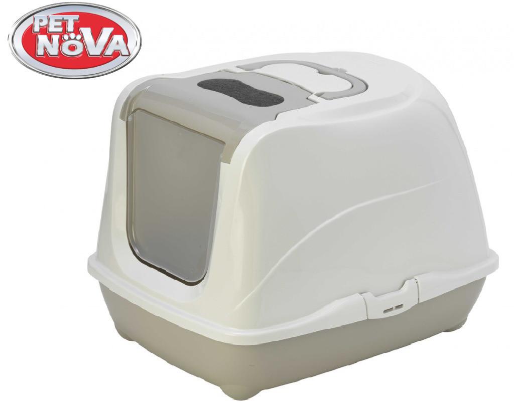 Закрытый туалет Pet Nova CatLifePlus 57 см серый