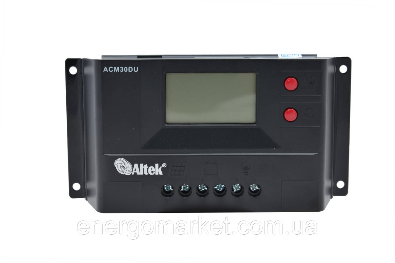 Контроллер заряда Altek ACM30D+USB (30А)