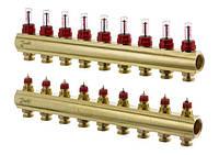 Колектор 9+9 з ротаметрами