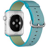 Нейлоновый ремешок Woven Nylon Scuba Blue для Apple Watch 38mm Series 1/2/3