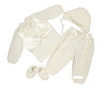 Набор для крещение и для выписки на мальчика,белый,отдельно штаны украшены шелком и кофта в виде фрака