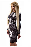 Молодежное принтованное платье (р. S,M)